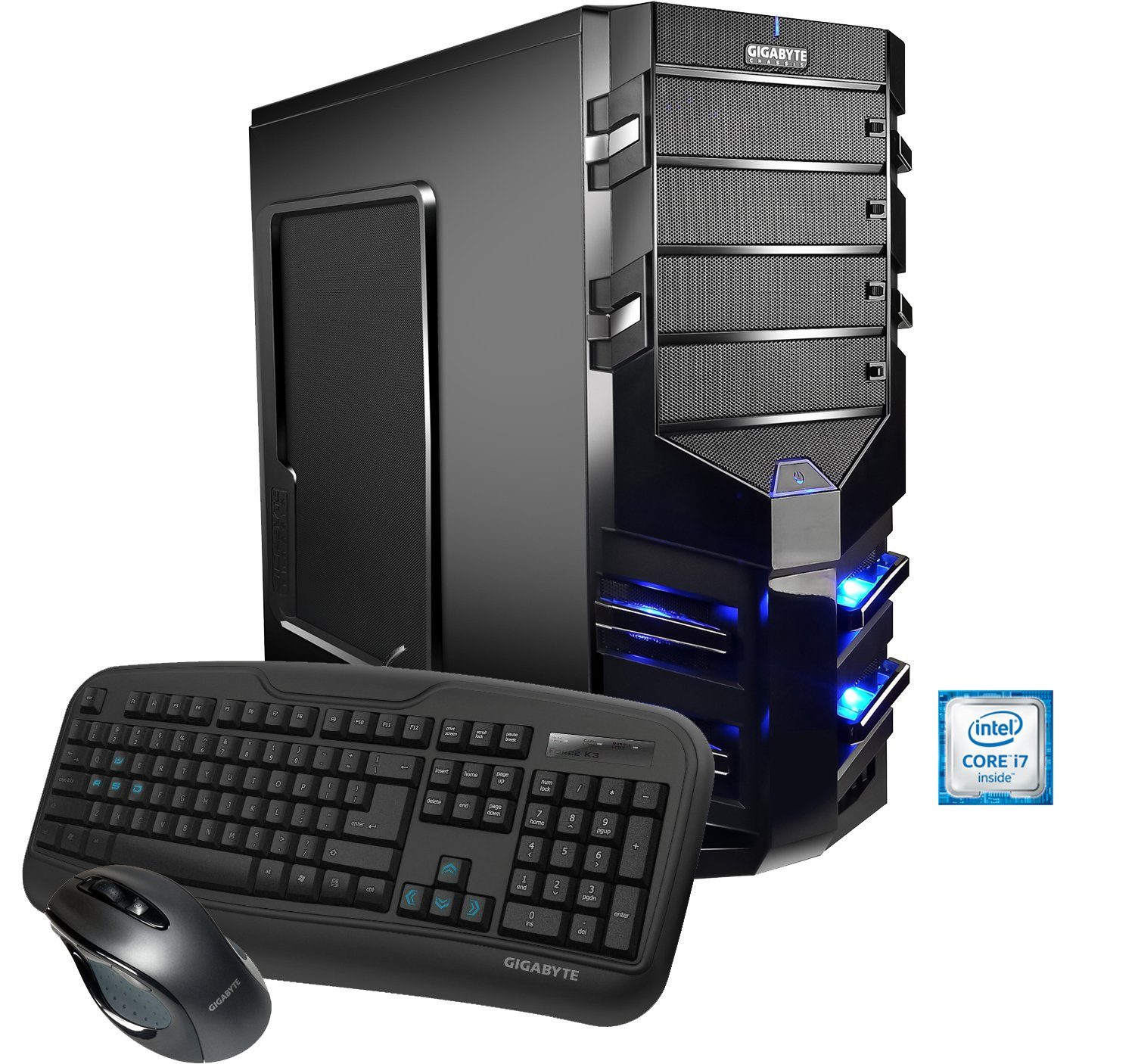 Hyrican Gaming PC Intel® i7-6700, 16GB, 1TB, 240GB SSD, Radeon™ RX 480 »Alpha Gaming 5151«